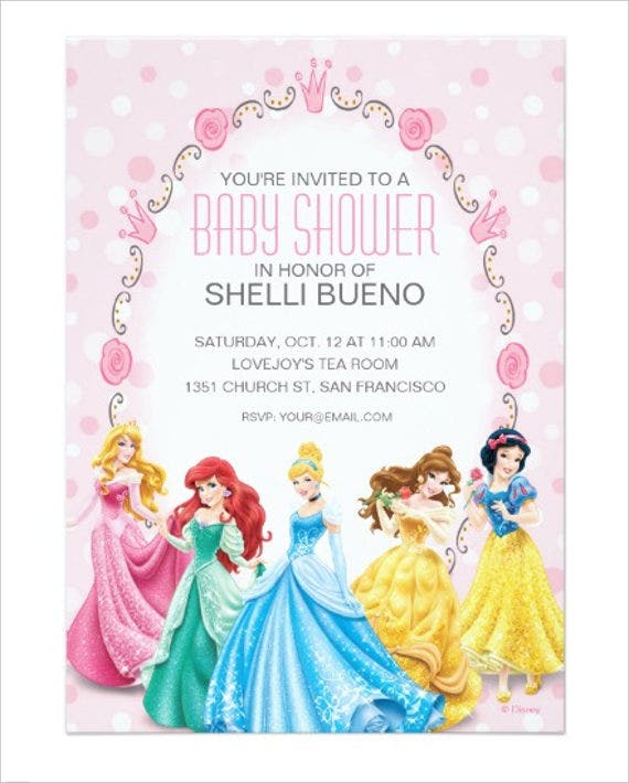 disney baby shower invitation card1