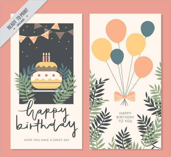 free vintage birthday card1