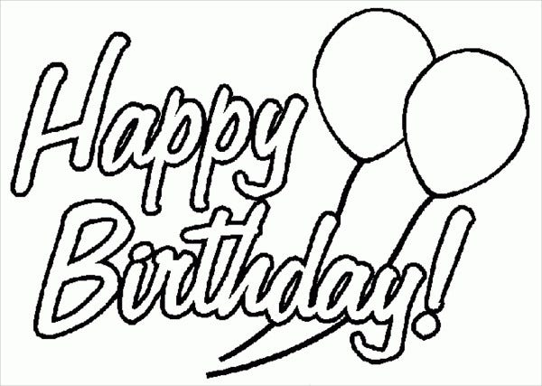 Printable Birthday Cards – Coloring Pages Birthday Cards