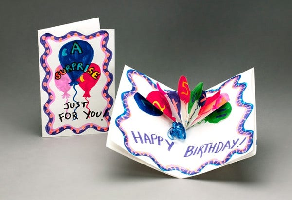 -Crayola Coloring Birthday Card