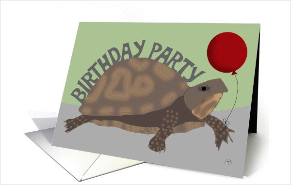 belated birthday invitation card
