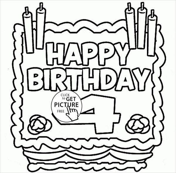 -Children's Coloring Birthday Card