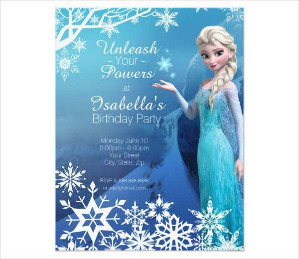 -Disney Frozen Birthday Card