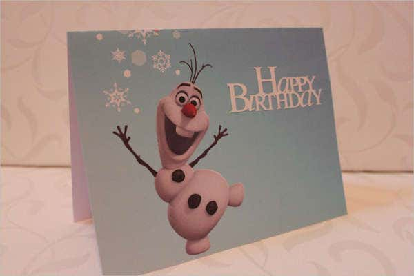 Frozen Happy Birthday Card