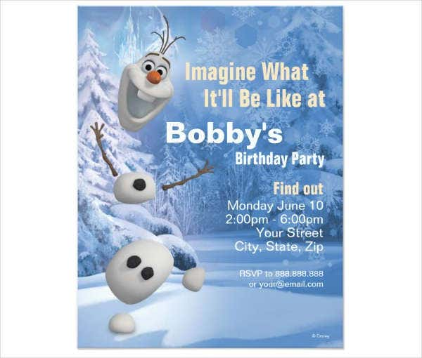 frozen birthday invitation card1