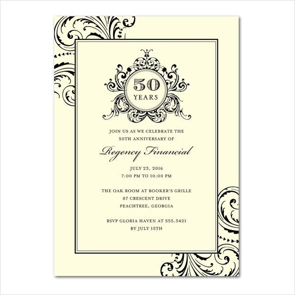 Invitation cards in psd 83 free psd vector ai eps format business anniversary invitation card stopboris