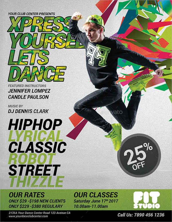 dance fitness flyer