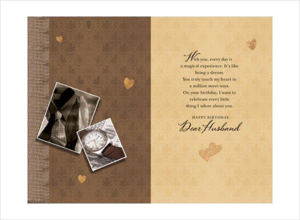 -Photo Birthday Card For Husband