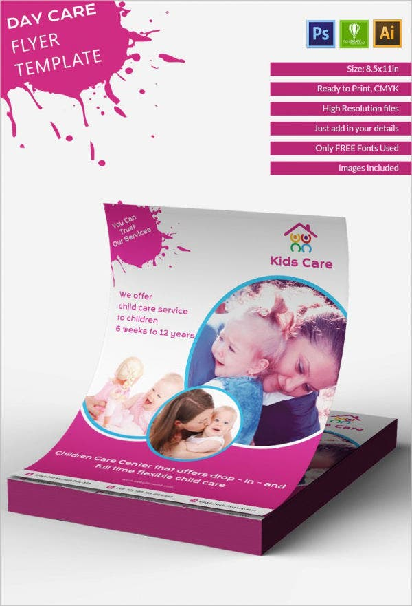 50 sample flyers free premium templates for Daycare brochure template