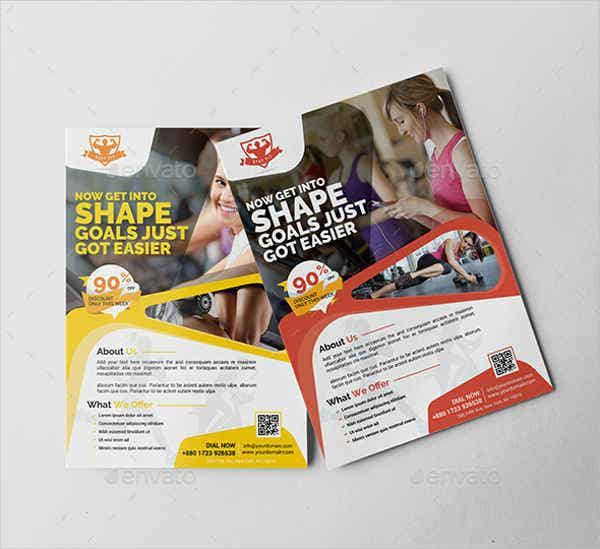 fitness promotional flyer