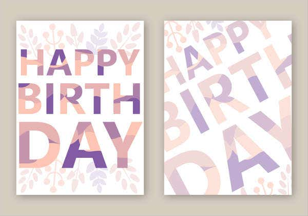 free birthday card layout