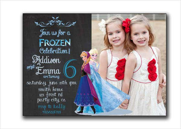 Frozen Birthday Card Layout