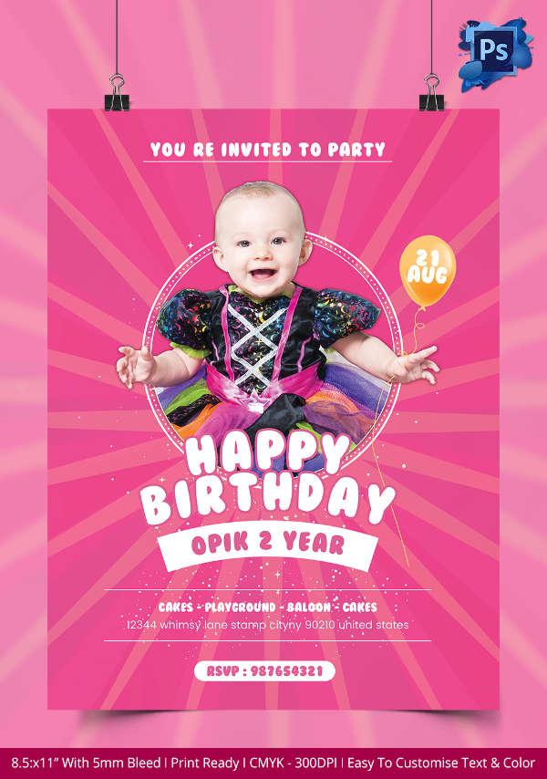 Birthday Event Flyer
