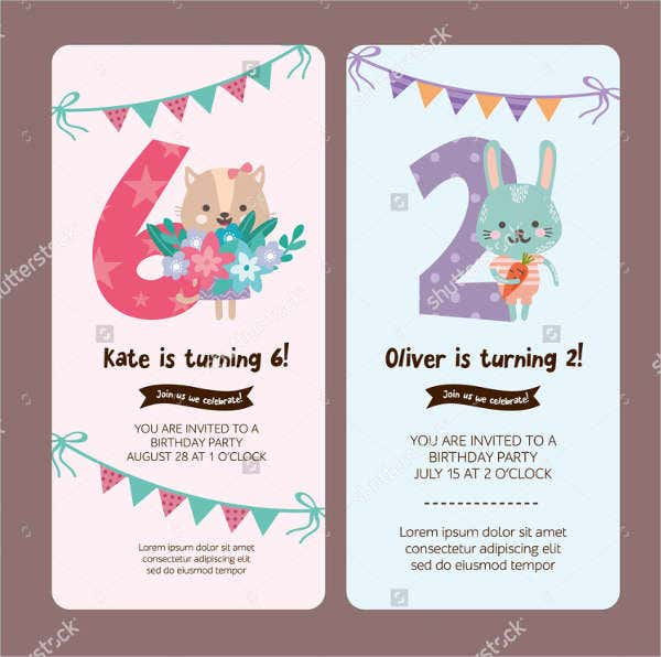 Birthday Invitation Card Layout