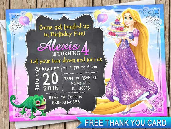 -Disney Princess Birthday Card