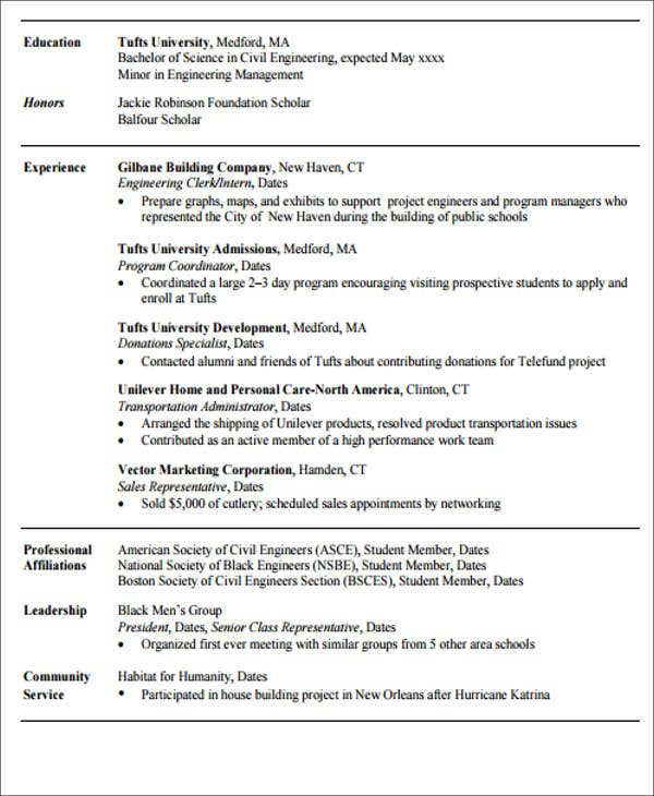 20 Engineering Resume Templates In Pdf Free Amp Premium
