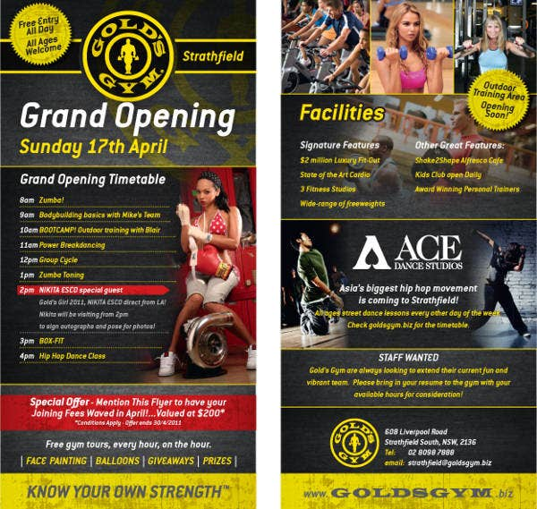 Gym Grand Opening Flyer