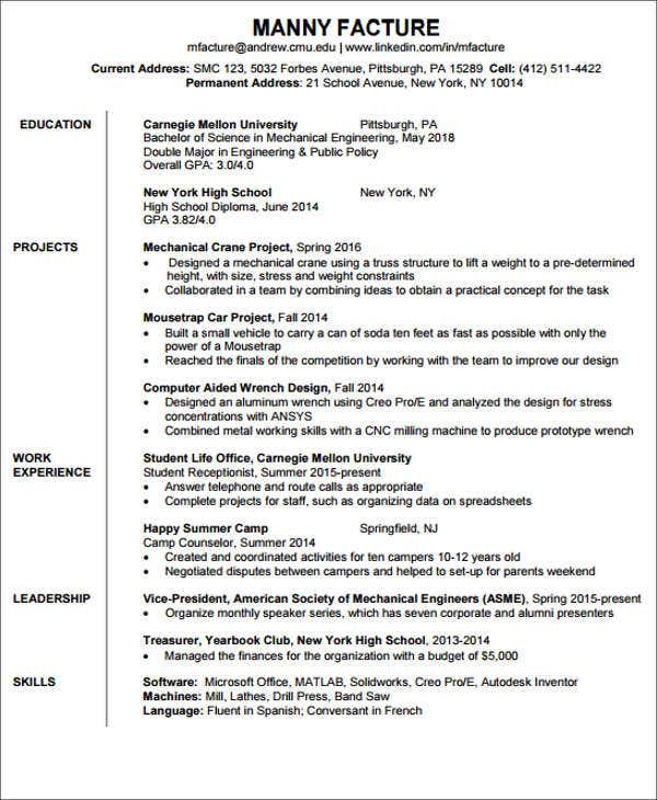 20+ Engineering Resume Templates in PDF | Free & Premium Templates
