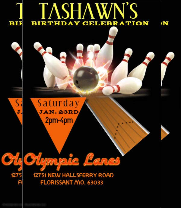 Bowling Fundraiser Flyer