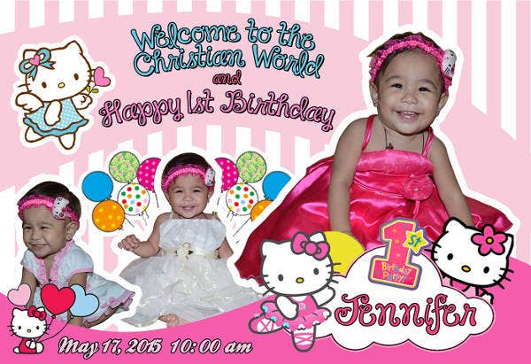 -Hello Kitty Birthday Greeting Card
