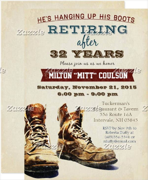 military-retirement-invitation-card