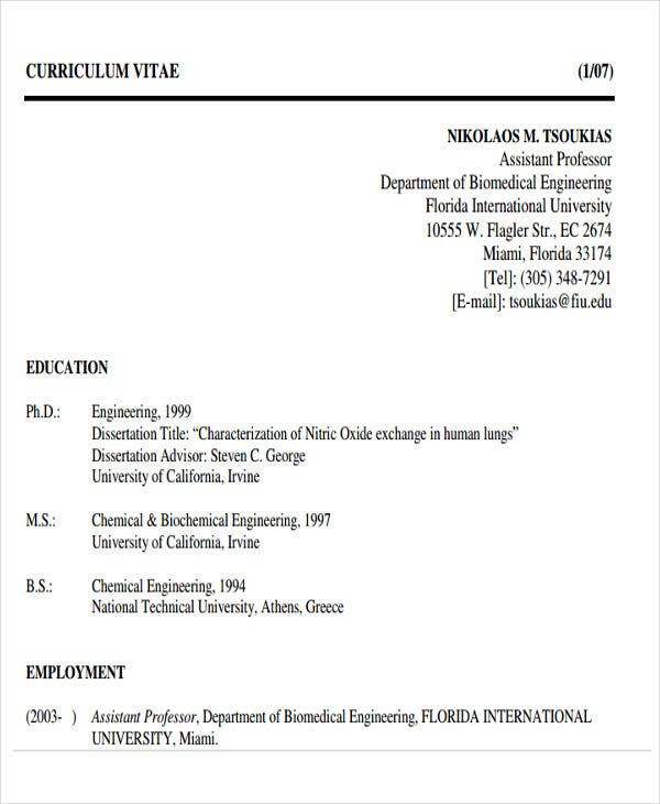 biomedical engineering resume format1