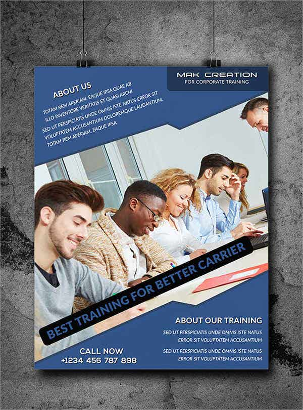 corporate training flyer