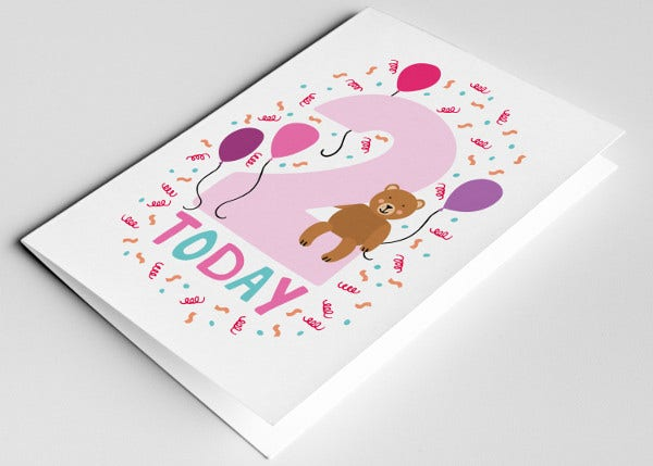 -Kid Stationery Birthday Card