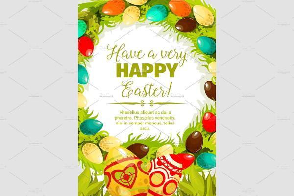 easter festive poster design