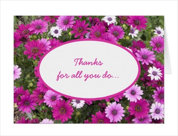 employee appreciation thank you card