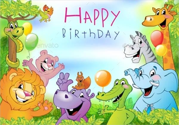 animated birthday greeting card