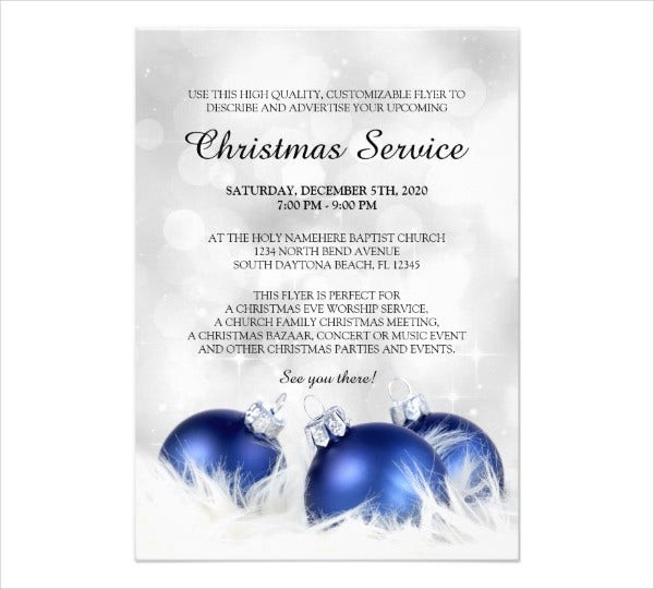 church service invitation card