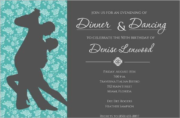 dinner and dance invitation card1