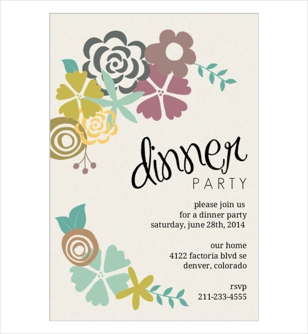Invitation cards in psd 77 free psd vector ai eps format dinner party invitation card stopboris Image collections