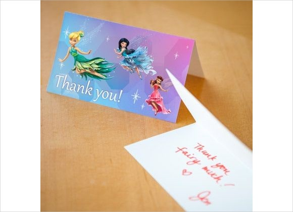 disney fairy thank you card