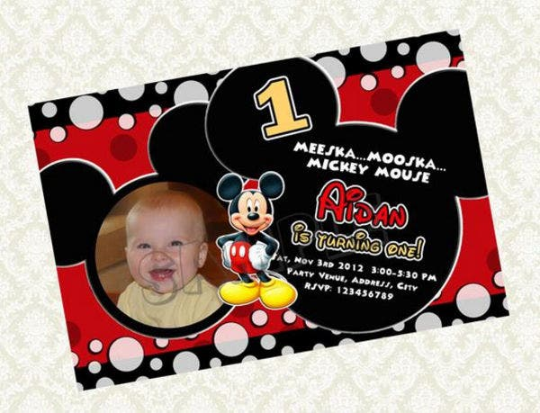 -Mickey Mouse Son Birthday Card