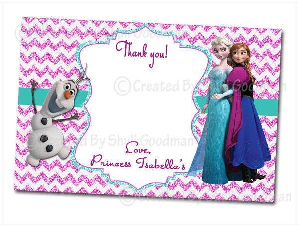 diy frozen thank you card