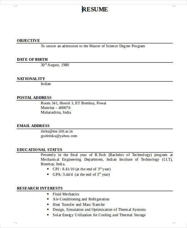 16+ Best Fresher Resume Templates - PDF, DOC