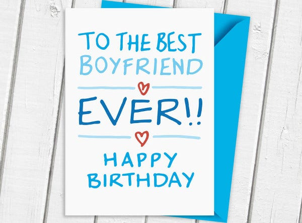 -Romantic Boyfriend Birthday Card