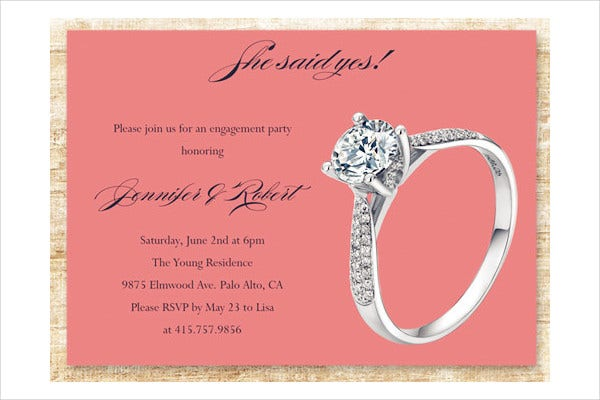 engagement rings invitation card1