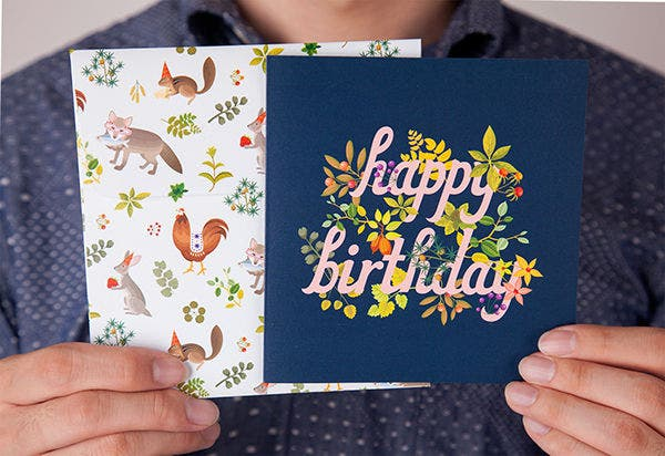 -Unique Paper Birthday Card