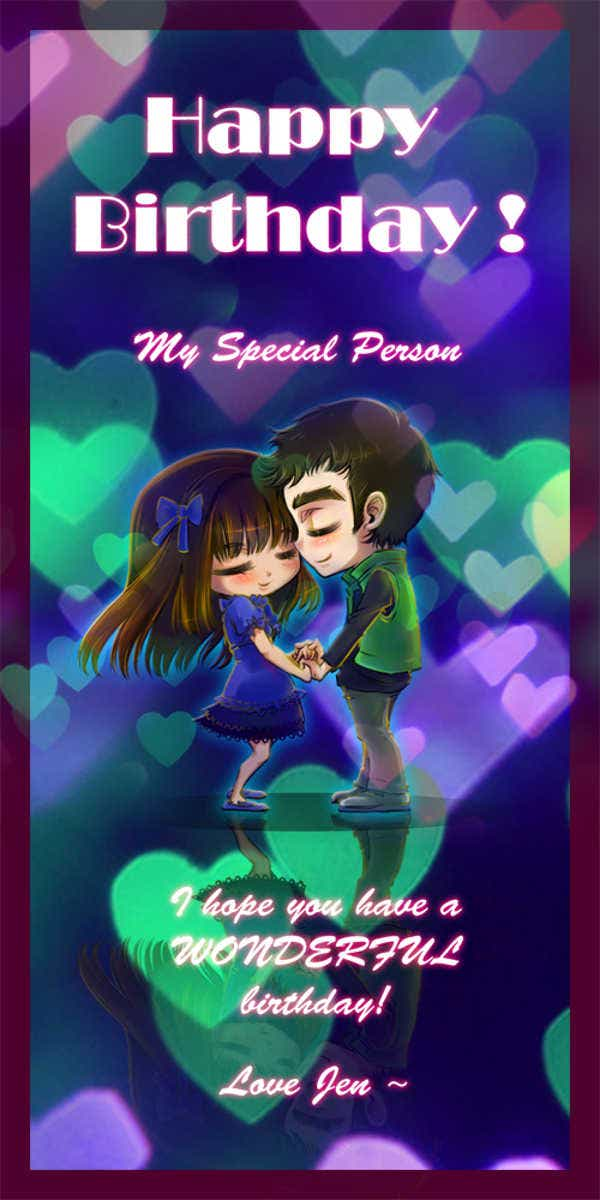 romantic love birthday card1