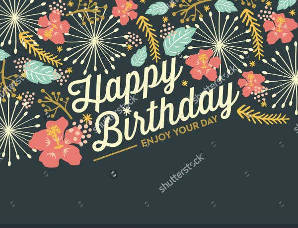 modern birthday card vector