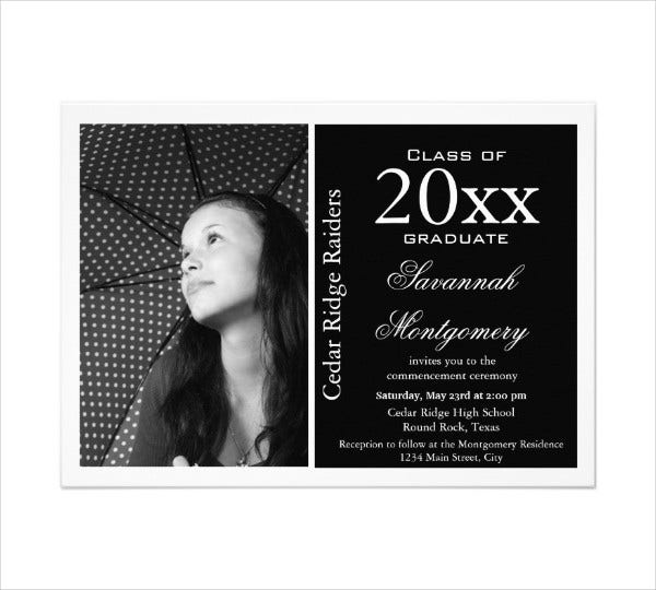 high school graduation invitation card