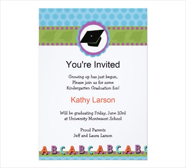 kindergarten graduation day invitation card