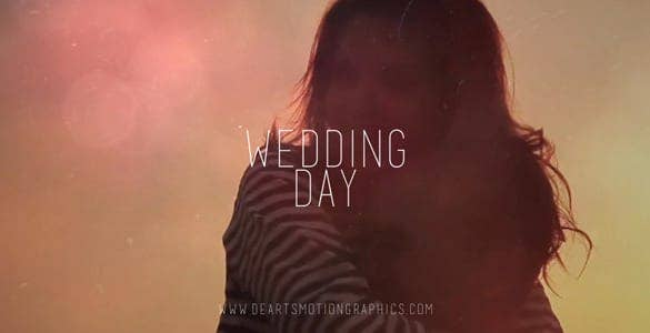 wedding day video simple and beautiful template download min