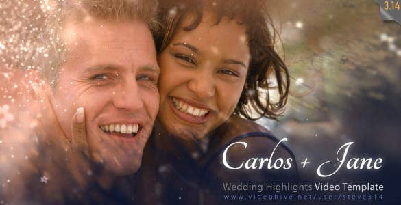 wedding highlights with romantic slideshow min