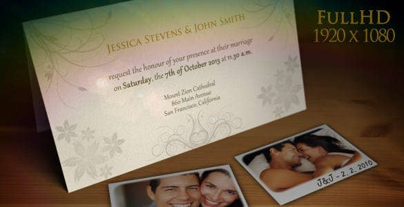 wedding invitation wedding announcement cs5 video effects min