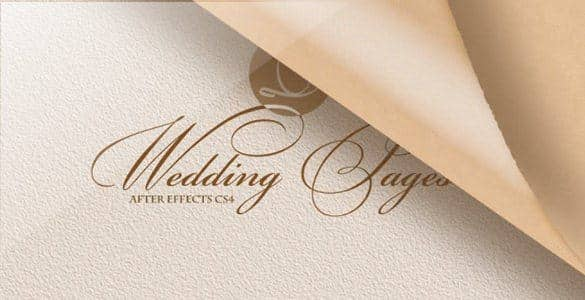 Wedding Pages After Effects Video Template