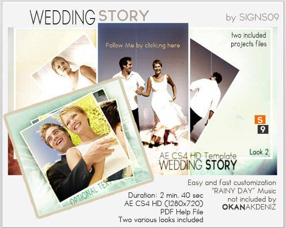 wedding story hd video template min